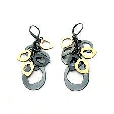 Rough-Cut Cluster Earrings by Lisa Crowder (Gold & Silver Earrings)