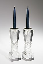 Koor Candlesticks by Joel and Candace  Bless (Art Glass Candleholder)