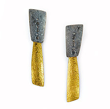 Fault Line Earrings by Sydney Lynch (Gold & Silver Earrings)