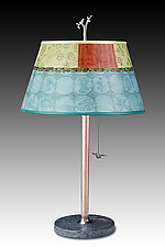 Paradise in Pool by Janna Ugone and Justin Thomas (Mixed-Media Table Lamp)