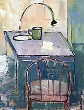 Still Life with Old Chair by Suzanne DeCuir (Oil Painting)