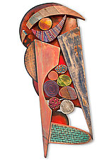 No. 128, Squeezium by James Nelson (Wood Wall Sculpture)