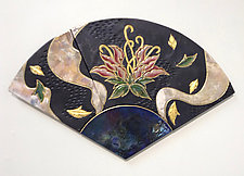 Deco Peony by Marcia Jestaedt (Ceramic Wall Sculpture)