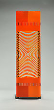 Impact ColorCentric Orange Totem by Terry Gomien (Art Glass Sculpture)