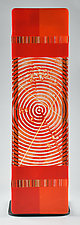 Impact ColorCentric Red Totem by Terry Gomien (Art Glass Sculpture)