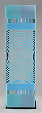 Impact ColorCentric Blue Totem by Terry Gomien (Art Glass Sculpture)