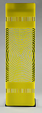 Impact ColorCentric Yellow Totem by Terry Gomien (Art Glass Sculpture)