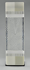 Impact ColorCentric White Totem by Terry Gomien (Art Glass Sculpture)