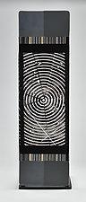 Impact ColorCentric Black Totem by Terry Gomien (Art Glass Sculpture)