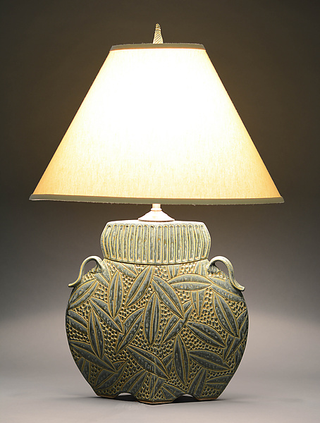 Arts and Crafts Lamp in Sage