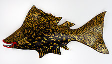 Goldlace by Byron Williamson (Ceramic Wall Sculpture)