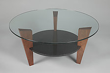 Tri-Pod Coffee Table I by John McDermott (Wood Coffee Table)