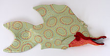 Pretty Party Fish by Byron Williamson (Ceramic Wall Sculpture)