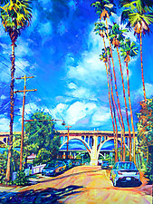 Arroyo Palms by Bonnie Lambert (Oil Painting)
