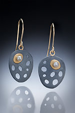 Lina Earrings by Robin  Sulkes (Gold, Silver & Pearl Earrings)