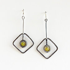 #866 Earrings by Boo Poulin (Silver & Stone Earrings)