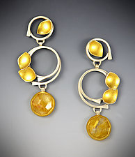 Sunrise Earrings by Judith Neugebauer (Gold, Silver & Stone Earrings)