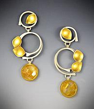 Sunrise Earrings by Judith Neugebauer (Gold, Silver & Stone Earrings)