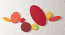 Reds (8) by James Aarons (Ceramic Wall Sculpture)