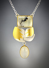 Moonstone Pendant by Judith Neugebauer (Gold, Silver & Stone Necklace)
