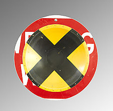 X-ing D.P.W. Platter by Boris Bally (Metal Wall Sculpture)