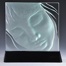 Each and Every Person Matters by Susan Bloch (Art Glass Sculpture)