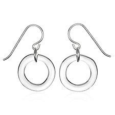 Single Circle Earrings by Roxann Slate (Art Glass Earrings)