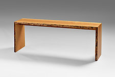 Cherry Hallway Bench by Jesse Shaw (Wood Bench)