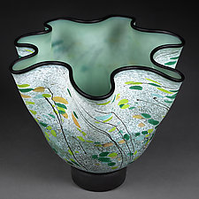 Verdigris Veils by Eric Bladholm (Art Glass Vessel)