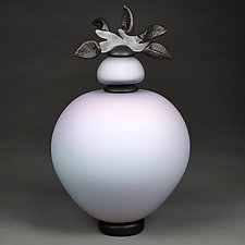 Novi Zivot (New Life) Satin Iris Large Sphere by Eric Bladholm (Art Glass Vessel)
