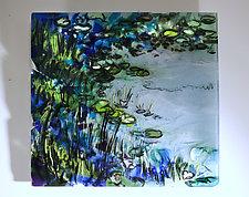 Japanese Garden by Alice Benvie Gebhart (Art Glass Wall Sculpture)