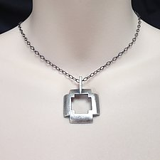 Sterling Silver Cross Pendant by Kathleen Lynagh (Jewelry Necklaces)