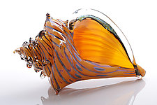 The Beach, Conch Shell by Benjamin Silver (Art Glass Sculpture)