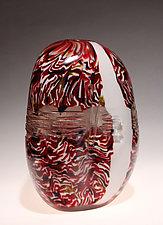 Textured Mokume by James Friedberg (Art Glass Vessel)