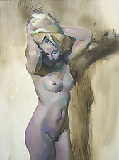 Nude Standing 1 by Cathy Locke (Oil Painting)