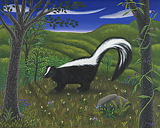 The Skunk by Jane Troup (Giclee Print)
