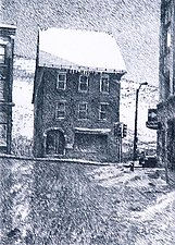 Brattleboro Winter by William Hays (Linocut Print)