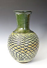 Fishnet Oribe by Tom Neugebauer (Ceramic Vase)
