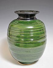 Black Oribe Vase by Tom Neugebauer (Ceramic Vase)