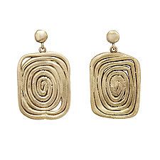 Vortex Earrings by Julie Cohn (Bronze Earrings)