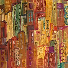 City Abstract II by Maya Green (Acrylic Painting)