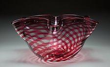 Striped Bowl #3 by James Friedberg (Art Glass Bowl)