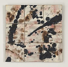 Exploding Sky by Kristi Sloniger (Ceramic Wall Sculpture)