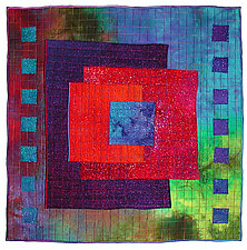 Colorfields: Sapphire by Michele Hardy (Fiber Wall Hanging)