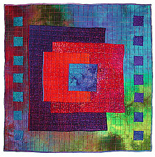 Colorfields: Sapphire by Michele Hardy (Fiber Wall Art)