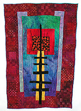 Ladders 8 by Michele Hardy (Fiber Wall Hanging)