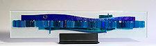 Sailing Waterfall by Alicia Kelemen (Art Glass Sculpture)