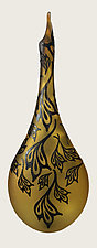 Blackthorn Teardrop Vase by Minh Martin (Art Glass Vase)