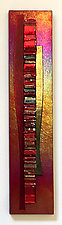 Popi Red Waterfall by Alicia Kelemen (Art Glass Wall Sculpture)