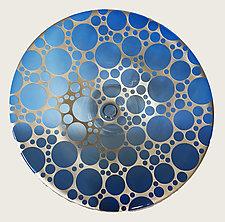 Cobalt Ventana Cake Plate by Minh Martin (Art Glass Cake Platter)